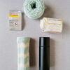 100均のコットンヤーンで編んだミニ水筒カバー