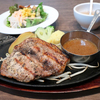 【食事】 ウエスタン牧場@水戸 瑞穂の芋豚肩ロースステーキのセット