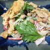 セロリと豆とかにかまのサラダ