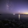 【天体撮影記 第167夜】 和歌山県 白崎海洋公園展望台から夕焼けと夜空を彩る天の川