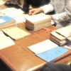 画廊で高校生の授業/京都市立銅駝美術工芸高等学校様と「木島桃村展」