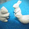 キャンドゥの陶器製動物オブジェ。