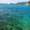 奈留島で海を眺める