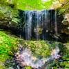 岩井滝【苫田郡鏡野町】滝の裏側から流水を眺めることができるめずらしい滝!「裏見の滝」