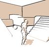 ポストプロセスマテリアルを使った2値化+輪郭線