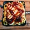 大阪王将のぷるもち水餃子とスライスチーズとちゃんぽん麺をホットサンドメーカーで焼いたらできたなにか