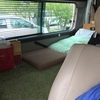 手作りキャンピングカー買い替えによる両車比較と車内の詳細/自作 バンコン キャンピングカー 〜室内が広くなった日。ウナギの寝床ではありますが〜