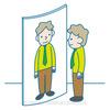 鏡を使った錯視