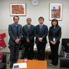 民進党の参議院議員石橋通宏さんを訪問