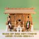 ギラギラしていない落ち着いた神棚 尾州桧で作る富士三社シリーズ
