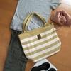 ボーダーのバッグにする?それともパッチワークのバッグにする?