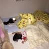 姉妹で寝る