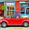 ヨーロッパ車の写真を鈴木英人風イラストに加工してみた(その2)