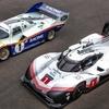 Porsche 919 Hybrid EVO ニュルブルクリンク24時間レースの会場をPorsche956と共に走る