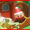 クリスマスにアンパンマンのサンタさんがプレゼントを届けにくるよ