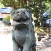 珠洲市にある春日神社の狛犬は手(足)がデカい