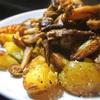 鴨脂のポテトとポルチーニのグリル