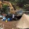 ショベルカーでキャンプ⁉︎道志の森キャンプ場で重機を活用する!