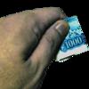 座席を譲られた老人が握り締められた千円札