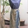 バリバティックで巻きスカート。 その② お花:けやき