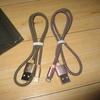 g0033 Cagayan ライトニングケーブル 2本異色セット頑丈なlightingナイロンケーブル【0.5mピンク+0.5mゴールド】