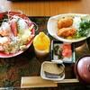 飛賀屋 福田屋鹿沼店3F 海鮮丼とカキフライのセット。