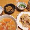 8/15の晩ご飯:麻婆春雨と野菜スープ