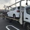 廃車手続き無料で故障車をレッカー車で廃車の引き取りしました。