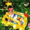 【3歳2ヶ月】夏の庭遊びは「スマイリージラフベビープール」で涼しく楽しく