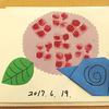 介護施設で本作り(スポンジスタンプ&折り紙で表現するあじさい)