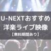 【2020年版】U-NEXTおすすめの洋楽ライブ映像【無料期間あり】