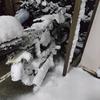 原付で雪道を走るin神奈川 自作タイヤチェーン