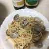 お祝いのアサリのスパゲティ