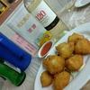 香港地元飯、熟食中心、ダイパイトン:イカのすり身のコロッケ、豚モツと湯葉の黒胡椒鍋、乾焼伊麺(香港仔街市熟食中心)