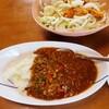 「キーマカレー」と「鶏胸肉と新玉ねぎの南蛮漬け」