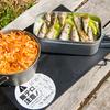 本宮山で「山と食欲と私」のぽんかす丼と豪快オイルサーディン丼
