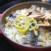 松茸と秋刀魚の炊き込みご飯