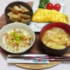納豆オムレツ、アジと梅の混ぜご飯など