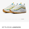 """NIKE """" AIR MAX 97 × UNDEFEATED White """" ☆☆"""