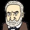 【商用フリー似顔絵イラスト】ヴィクトル・ユーゴー(Victor Hugo)