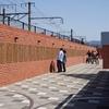【カープモニュメントスクエア】カープロードに出来た球団創立70周年記念のレンガ広場