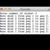 【アセンブリ】C言語でシステムコールsyscallを使うーハノイの塔編