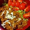 【今日のごはん】しっかり味の簡単タコライスでお肉と白米欲を満たす