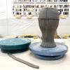 削りカスの再生土で鉢を作る