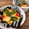 牡蠣のオイル漬けと柿課題