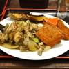 豊洲の「米花」で身欠きニシン煮、さつま揚げと厚揚げの煮物、イクラ、焼きたらこ、キノコ・白バイ貝・玉ねぎ・ロマネスコの炒めもの。