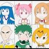 平成ライダーの年代でアニメキャラ振り返りイラスト2枚目が出来ました!