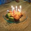 娘の誕生祝いはケーキではなく、きな粉もちでやりました(笑)