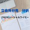 【立会外分売の分析】3929 ソーシャルワイヤー