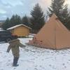 子連れ雪中キャンプ@まあぶオートキャンプ場